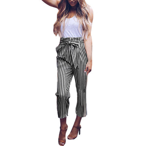 Women's High Waist Bowtie Pants