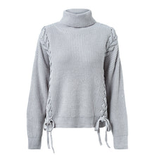 Load image into Gallery viewer, Women's Loose Knit Braid Sweater Onesize