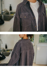 Load image into Gallery viewer, Corduroy single-breasted women's jacket