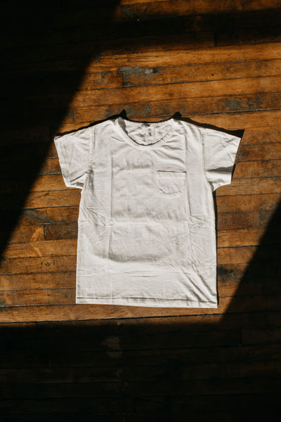 WYTHE NEW YORK - Tubular Pocket Tee in Natural