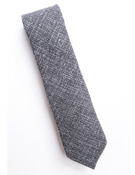 BROOKLYN TAILORS - Textured Wool Tie - Ash