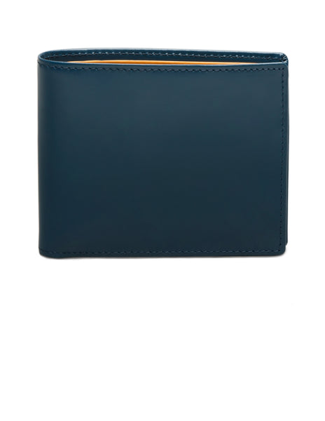 ETTINGER - Bridle Hide Billfold Wallet with 6 C/C in Petrol Blue