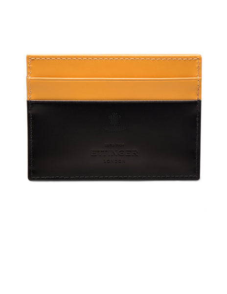 ETTINGER - Bridle Hide Flat Credit Card Case in Black