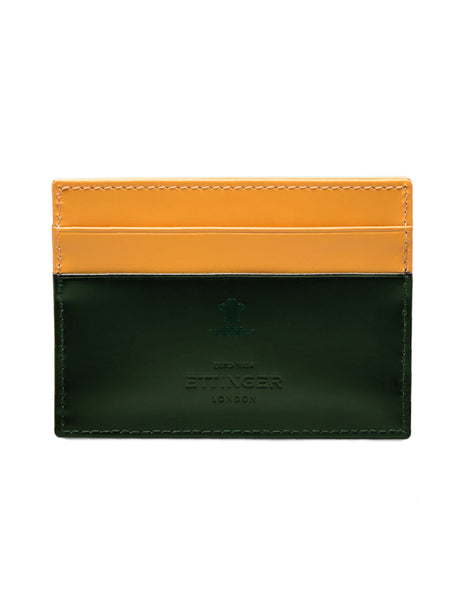 ETTINGER - Bridle Hide Flat Credit Card Case in Green