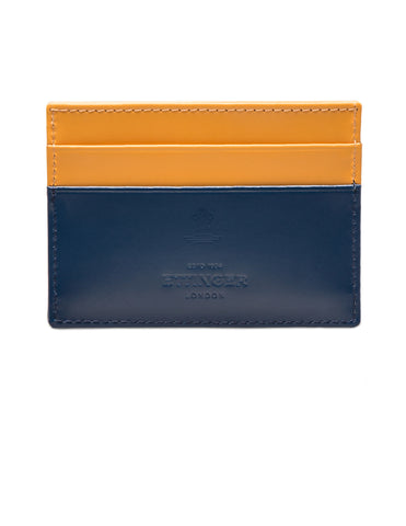 ETTINGER - Bridle Hide Flat Credit Card Case in Petrol Blue