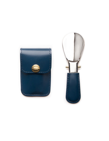 ETTINGER - Bridle Hide Travel Shoe Horn in Petrol Blue