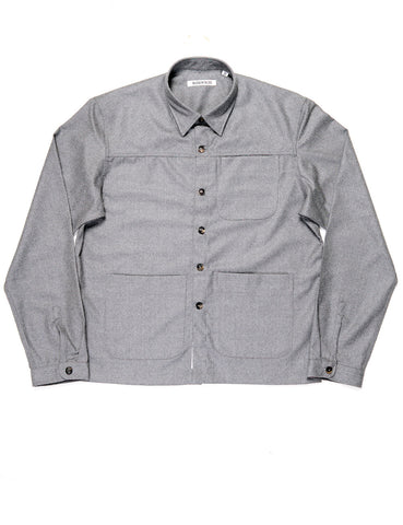 BROOKLYN TAILORS - BKT15 Shirt Jacket in Wool Flannel - Dusky Gray