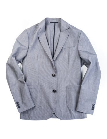 BROOKLYN TAILORS - BKT35 Unstructured Jacket in Grey Houndstooth
