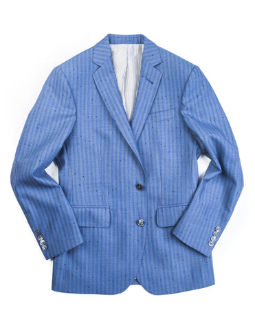 BROOKLYN TAILORS - BKT50 Jacket in Airforce Blue with Stripes