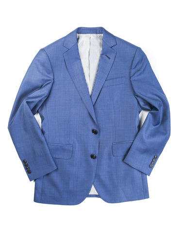 BROOKLYN TAILORS - BKT50 Jacket in Bright Blue Sharkskin