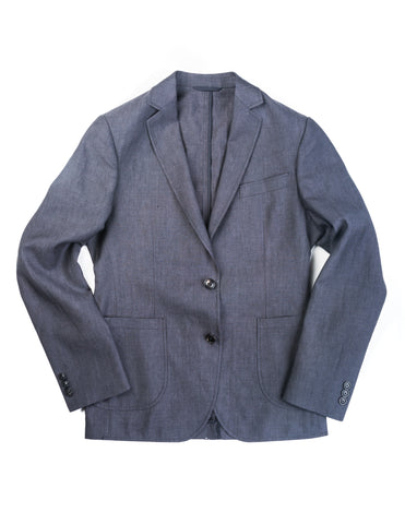 FINAL SALE: BROOKLYN TAILORS - BKT35 Unstructured Jacket in Charcoal Cotton/Linen