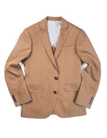 BROOKLYN TAILORS - BKT50 Jacket in Tobacco Herringbone