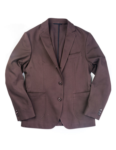 BROOKLYN TAILORS - BKT35 Unstructured Jacket in Brown Twill Cotton