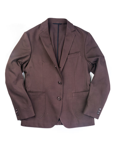 BROOKLYN TAILORS - BKT35 Unstructured Jacket in Brown Cotton Twill