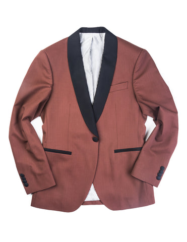 BROOKLYN TAILORS - BKT50 Dinner Jacket in Brick Herringbone
