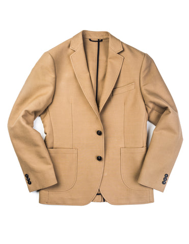 FINAL SALE: BROOKLYN TAILORS - BKT35 Unstructured Jacket in Khaki Cotton