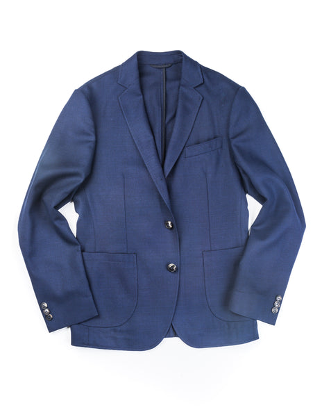 BROOKLYN TAILORS - BKT35 Unstructured Jacket in Navy Hopsack