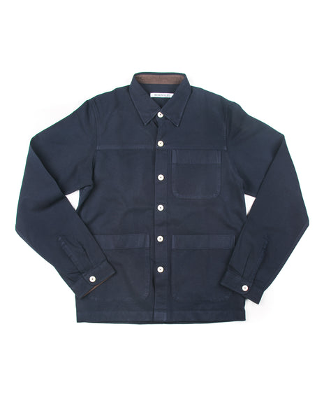 FINAL SALE - BROOKLYN TAILORS - BKT15 Shirt Jacket in Navy Cotton Twill