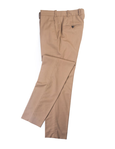 BROOKLYN TAILORS - BKT50 Tailored Trousers in Tobacco Herringbone