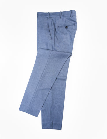 BROOKLYN TAILORS - BKT50 Tailored Trousers in Blue Birdseye