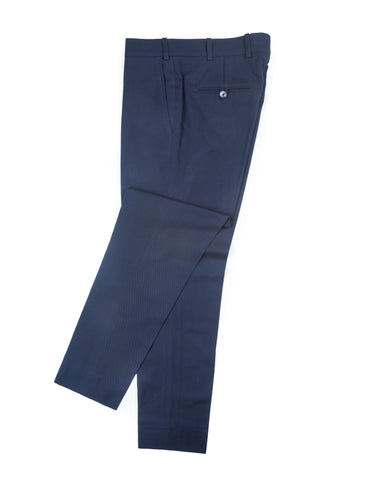 BROOKLYN TAILORS - BKT50 Tailored Trousers in Navy Cotton Twill