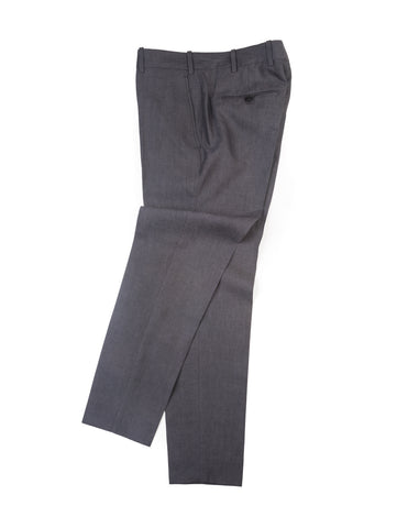 FINAL SALE: BROOKLYN TAILORS - BKT50 Tailored Trousers in Charcoal Cotton/Linen
