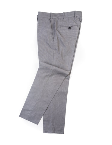 BROOKLYN TAILORS - BKT50 Tailored Trousers in Grey Houndstooth