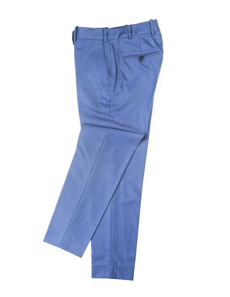 BROOKLYN TAILORS - BKT50 Tailored Trousers in Bright Blue Sharkskin
