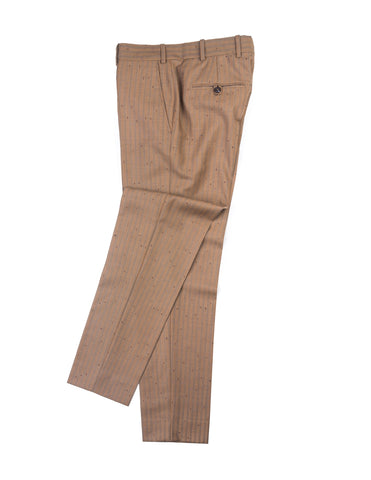 FINAL SALE: BROOKLYN TAILORS - BKT50 Tailored Trousers in Vintage Copper with Flecked Stripes