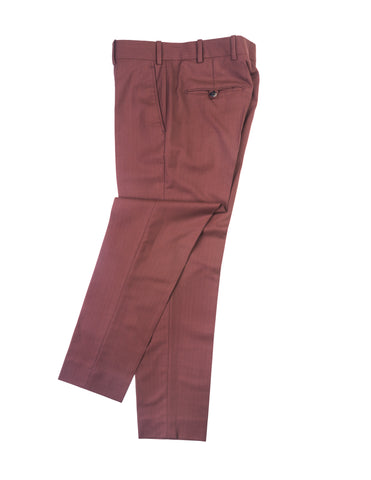 BROOKLYN TAILORS - BKT50 Tailored Trousers in Brick Herringbone