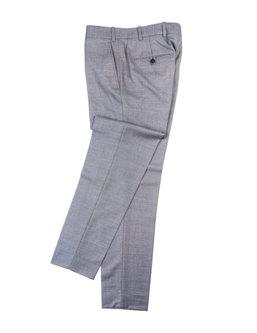 BROOKLYN TAILORS - BKT50 Tailored Trousers in Antique Grey Hopsack