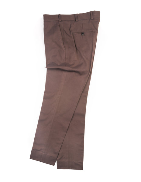 BROOKLYN TAILORS - BKT50 Tailored Trousers in Brown Cotton Twill