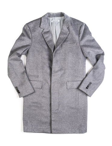 FINAL SALE: BROOKLYN TAILORS - BKT75 Topcoat in Grey Angora