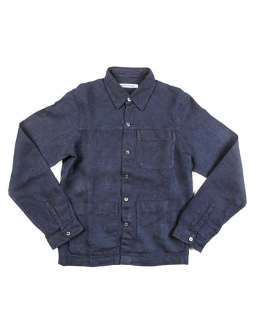 BROOKLYN TAILORS - BKT15 Shirt Jacket in Navy Linen
