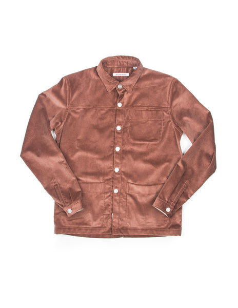 FINAL SALE - BROOKLYN TAILORS - BKT15 Shirt Jacket in Rose Taupe Wide Corduroy