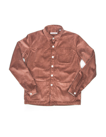 BROOKLYN TAILORS - BKT15 Shirt Jacket in Rose Taupe Wide Corduroy