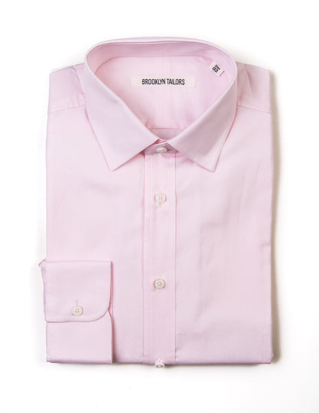 BROOKLYN TAILORS - BKT20 Dress Shirt in Light Pink Pinpoint