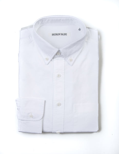 BROOKLYN TAILORS - BKT10 Sport Shirt in White Oxford
