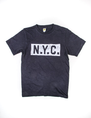 "FINAL SALE: VELVA SHEEN - ""N.Y.C"" Tee in Navy"