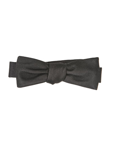 BROOKLYN TAILORS - Formal Bowtie in Black Grossgrain