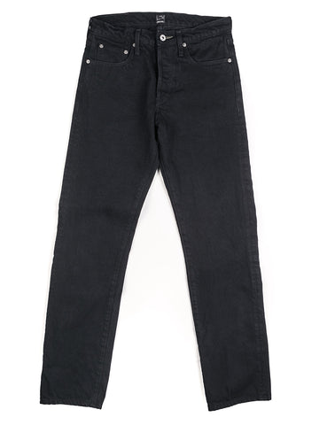 GLENN'S DENIM - GD111 Slim Straight | Washed 14 Oz Denim - Total Black