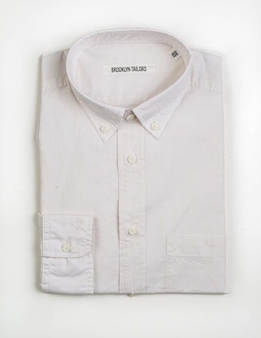 BROOKLYN TAILORS - BKT10 Casual Shirt in Off White Washed Poplin