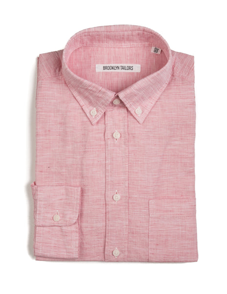 FINAL SALE: BROOKLYN TAILORS - BKT10 Casual Shirt in Cabana Red End-on-End
