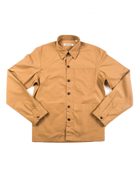 BROOKLYN TAILORS - BKT15 Shirt Jacket in Tan Dyed Cotton