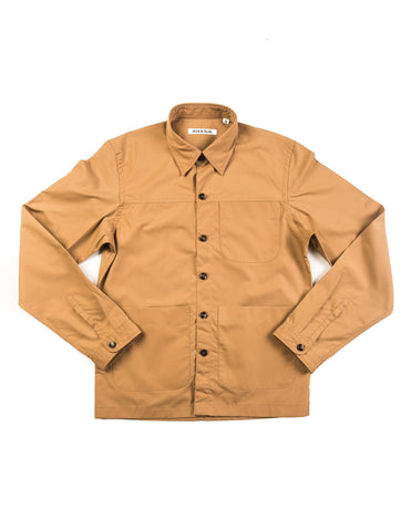 BROOKLYN TAILORS - BKT15 Shirt Jacket in Crisp Cotton - Tobacco
