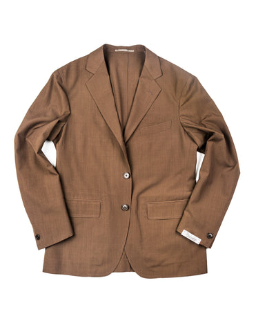 FINAL SALE: CAMOSHITA - Suit Jacket in Dark Brown
