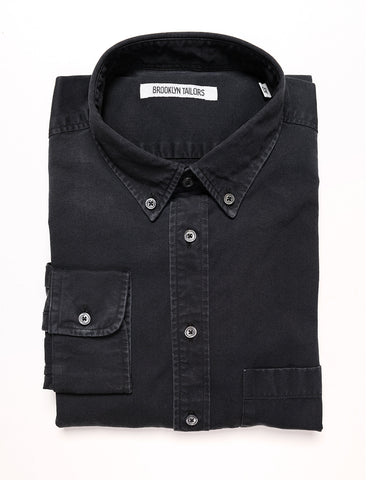 BROOKLYN TAILORS - BKT10 Slim Casual Shirt in Denim - Stonewashed Black