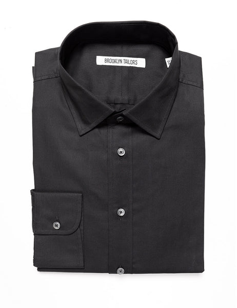 BROOKLYN TAILORS - BKT20 Dress Shirt in Pinpoint - Black