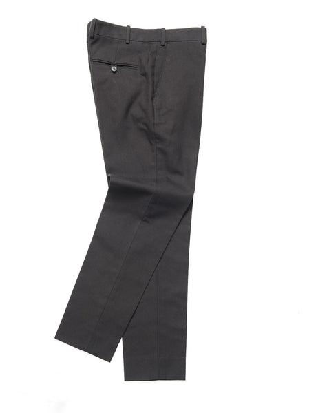 BROOKLYN TAILORS - BKT50 Tailored Trouser in Cotton Twill - Black