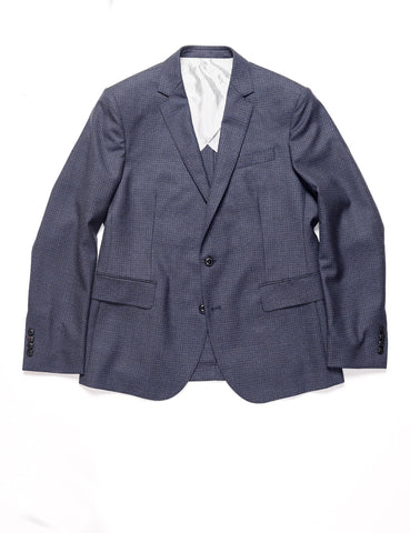 BROOKLYN TAILORS - BKT50 Tailored Jacket in Refined Check - Slate Blue